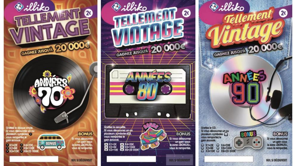 Tellement Vintage, un nouveau jeu à gratter éphémère de la FDJ