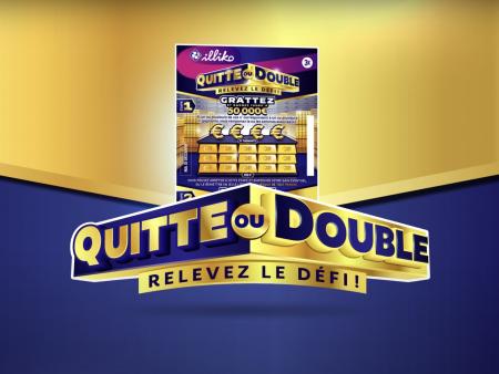 Quitte ou double : le nouveau jeu de grattage où l'on peut tripler ses gains !