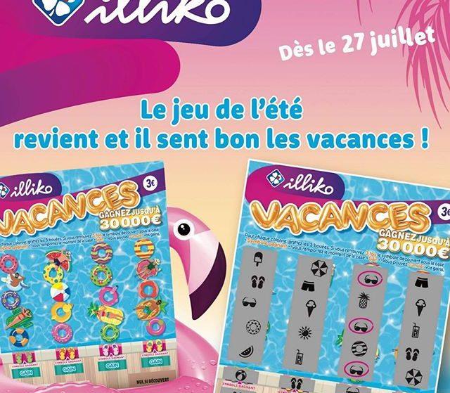 Le ticket de grattage estival «Vacances» pour embellir vos vacances !