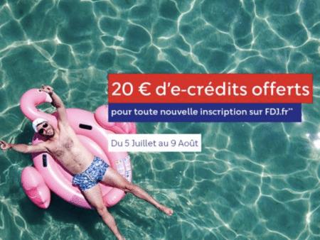 Bonus FDJ été 2021 : 20€ offerts pour toute nouvelle inscription sur fdj.fr !