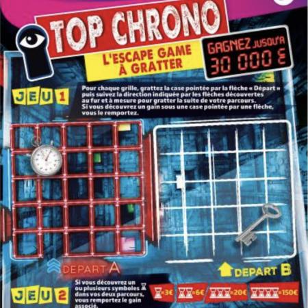 Top Chrono, le jeu de grattage des congés d'été 2021 !